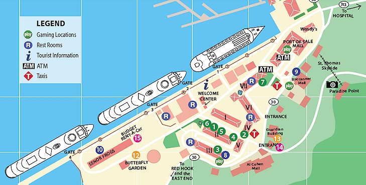 Duty Free Shopping In St Thomas USVI St Thomas Travel St - Map of st thomas us virgin islands
